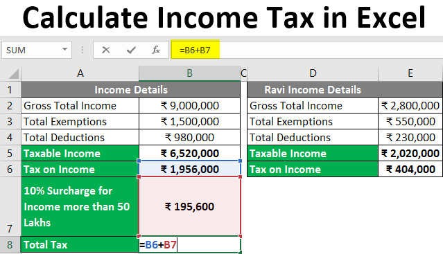 Calculate Income Tax in Excel