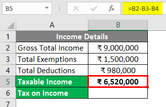 Calculate income tax in excel 3-3