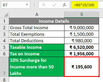 Calculate income tax in excel 3-7