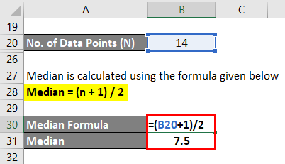 Central Tendency Formula Example 1-3