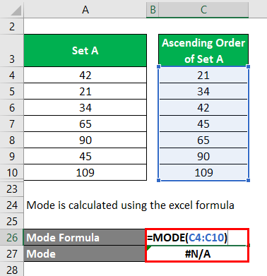 Calculation of Mode Example 2-5