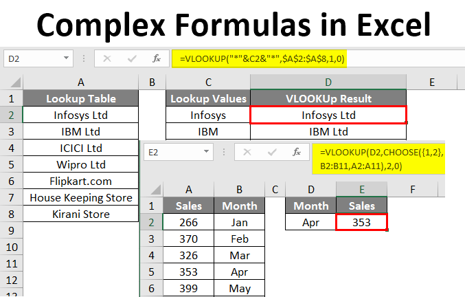 Complex Formulas in Excel