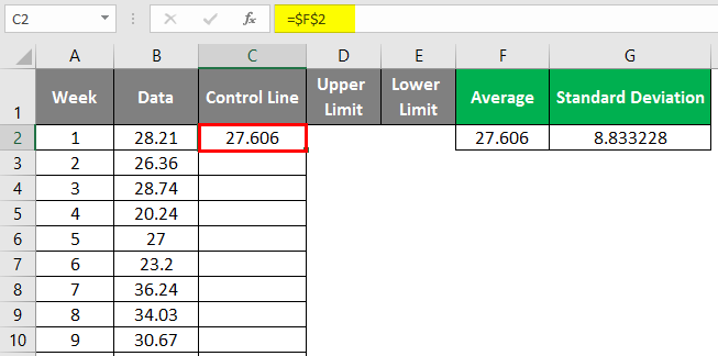 Control Charts in Excel 1-7
