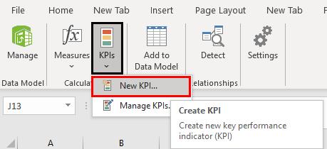 Create new KPI