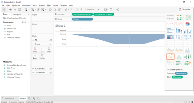 Funnel Chart In Tableau - Drag and Drop