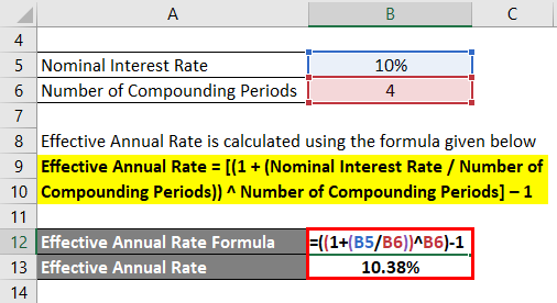 Effective Annual Rate Formula Example 2-2