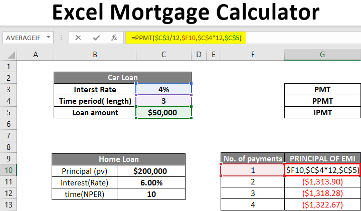 how to calculate mortage payment