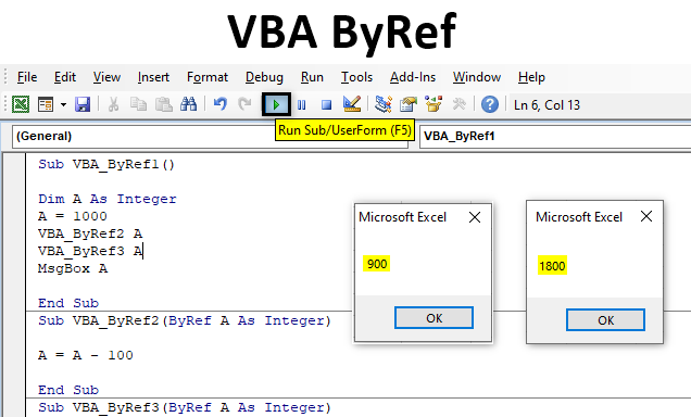 VBA ByRef