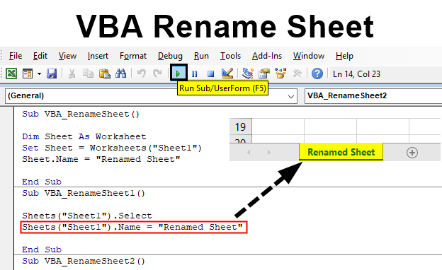 VBA Rename Sheet | How to Rename Sheet in Excel Using VBA?