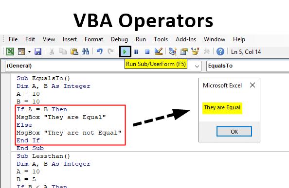 Excel VBA Operator