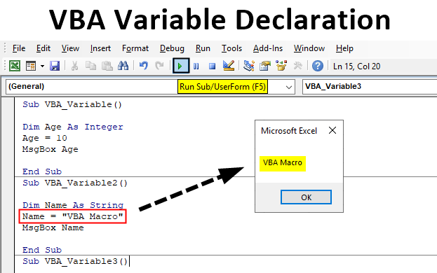 Excel VBA Variable Declaration