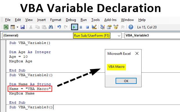 Excel VBA Variable Declaration