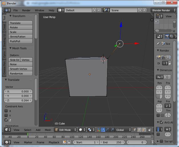 Extrude Blender Step 2.3