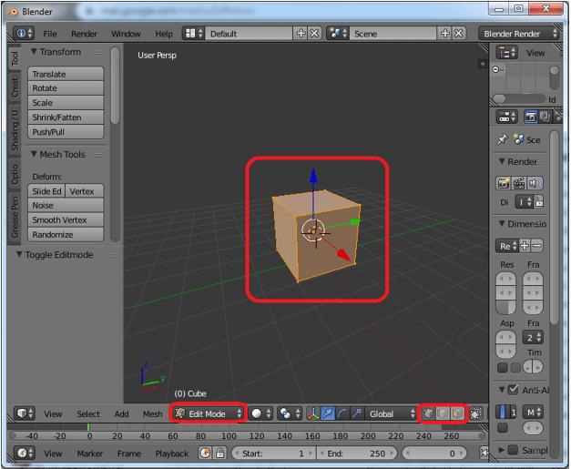 Extrude Blender Step 2