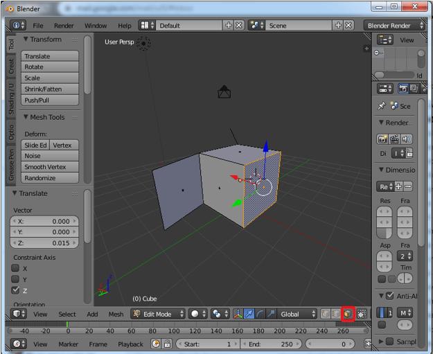 Extrude Blender Step 4.1