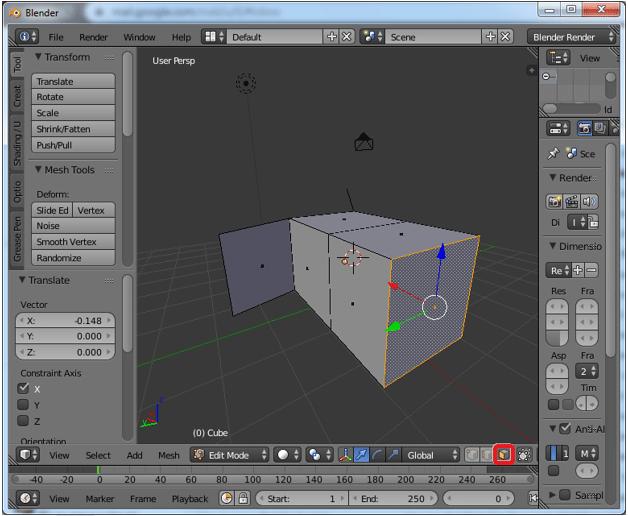 Extrude Blender Step 4.2