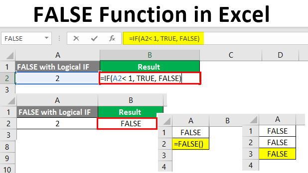 FALSE Function in Excel