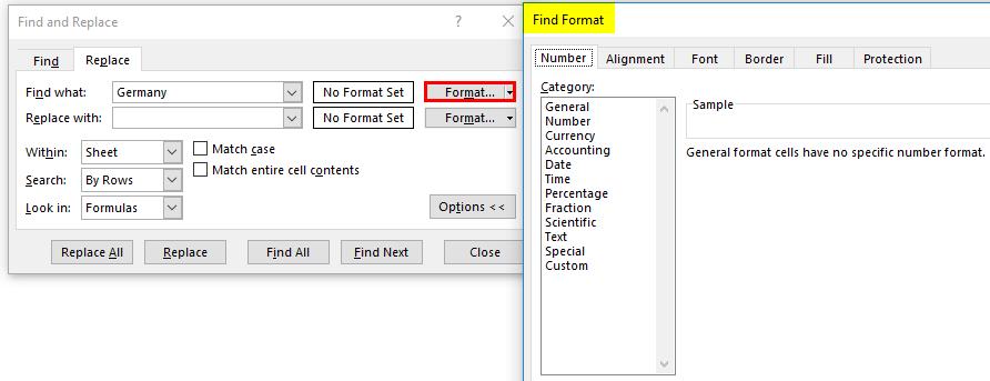 select format data