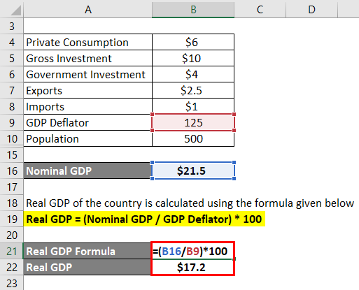 Calculation of Real GDP Example 2-3