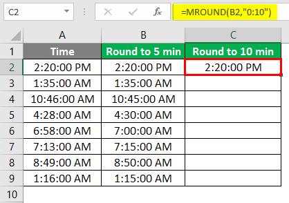 Round to 5 min - 3