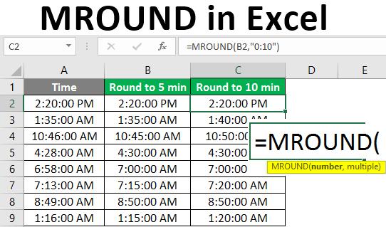 MROUND in Excel