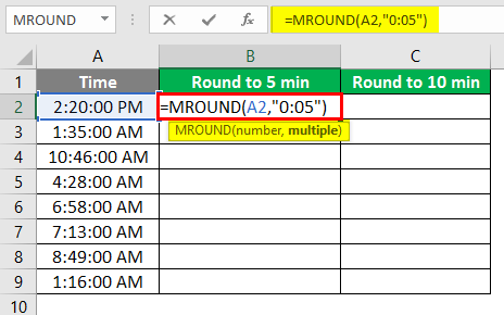 MROUND in excel 2-2
