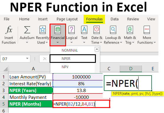 NPER Function in Excel