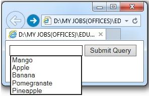 """""""<datalist>"""" element output"""