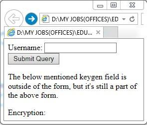 """""""<keygen>"""" element output"""