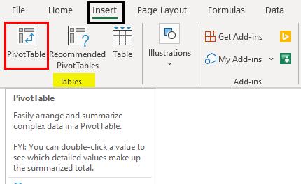 Insert Slicers for Pivot Table Data 1-2