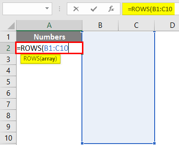 ROWS Function in Excel 1-4