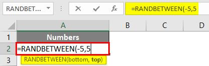 RANDBETWEEN in Excel 2-2