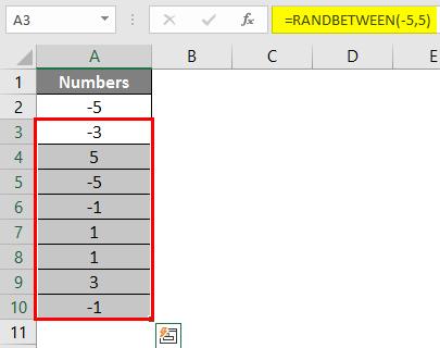 RANDBETWEEN in Excel 2-4
