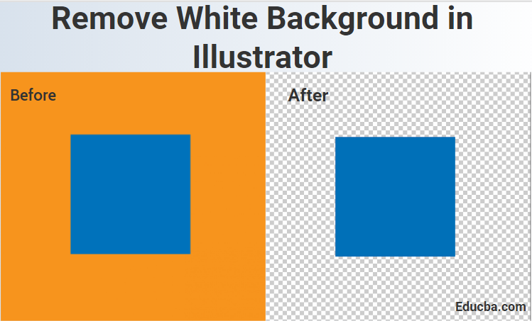 Remove white Background in Illustator