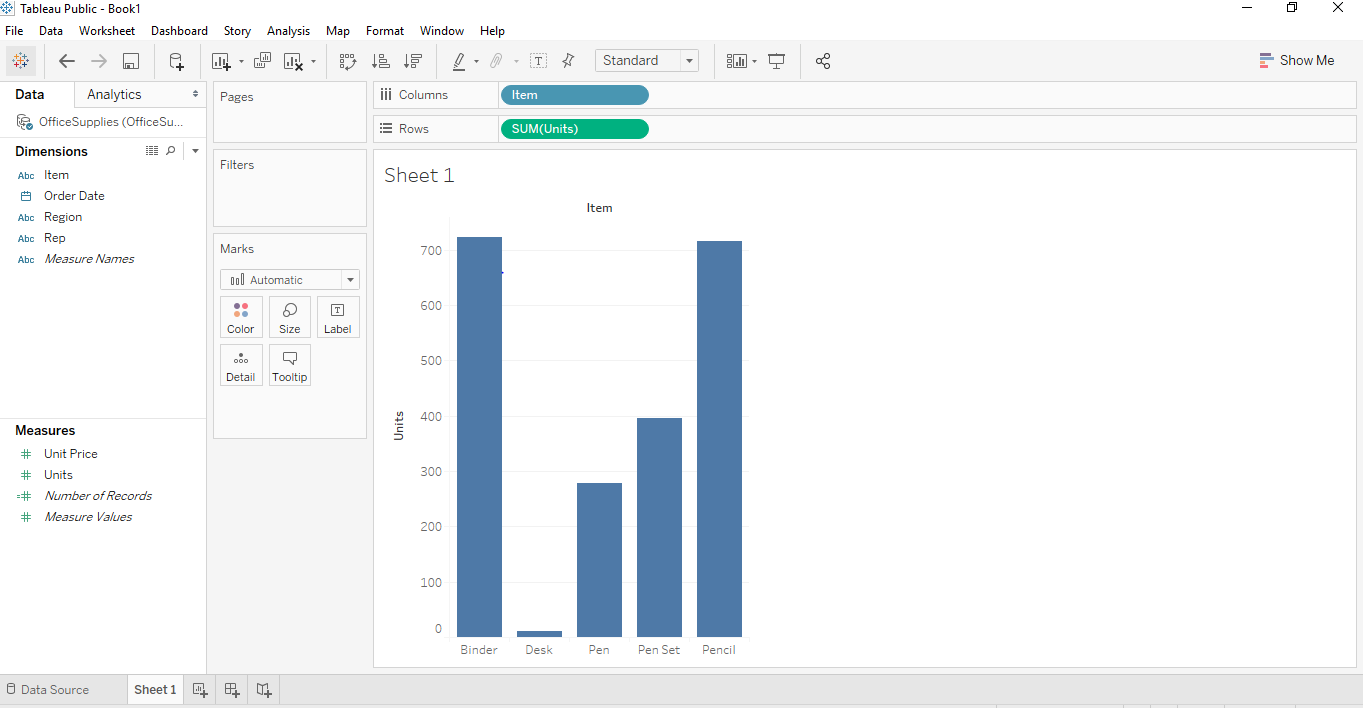 Stacked Bar Chart in Tableau 4