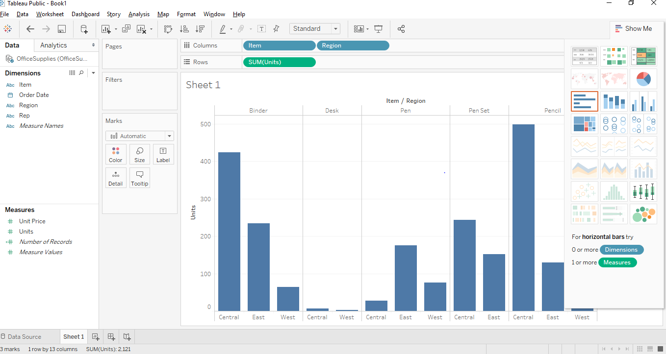 Stacked Bar Chart in Tableau | Step by Step creation of