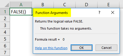 False function in excel 1-2