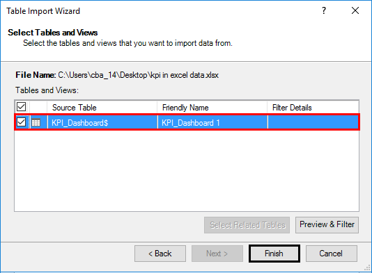 Table Import Wizard 1