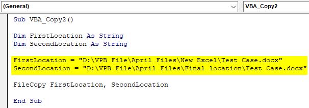 VBA Copy File Example 3