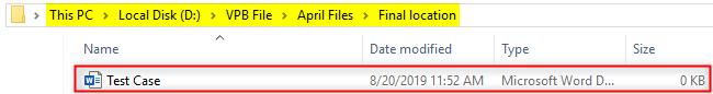 VBA Final Output of Copy file