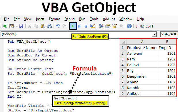 VBA GetObject | How to Use GetObject Function in Excel Using ...