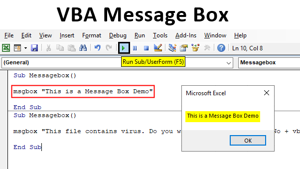 VBA Message Box