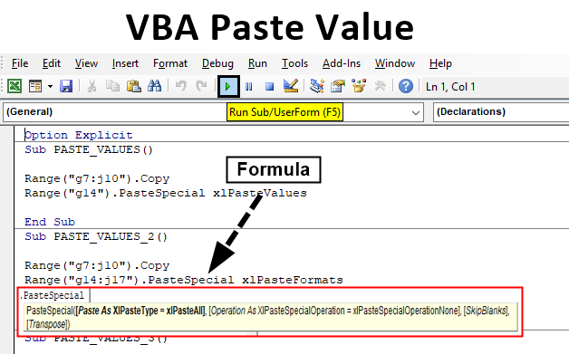 VBA Paste Value