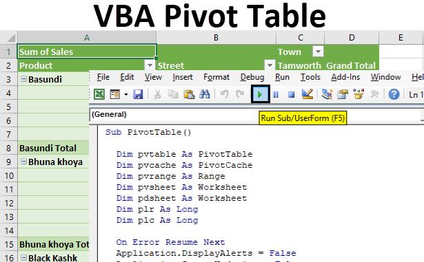 VBA Pivot Table