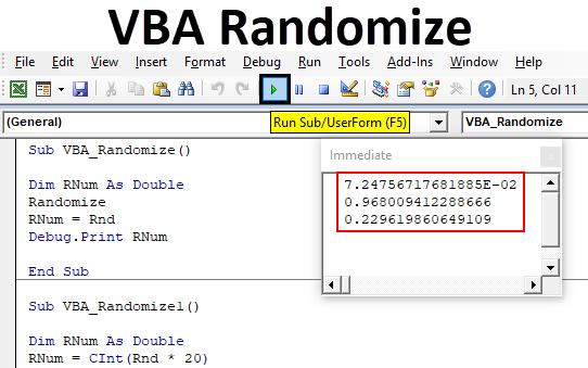 VBA Randomize