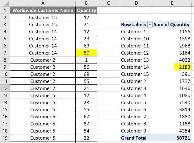VBA Refresh Pivot Table Example 1.12