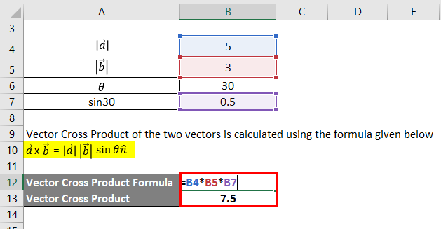 Vector Cross Product Formula-1.2