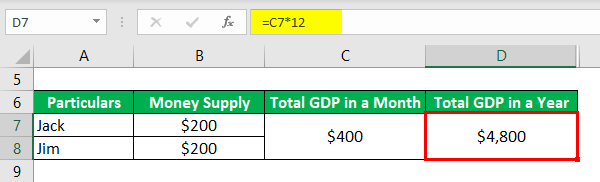 Calculation of Total GDP in Year-1.3
