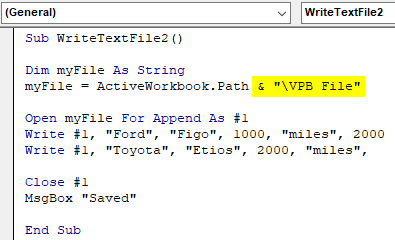 Write Text File Example 2.4