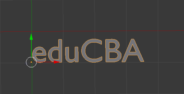 Step 3.3(3d text in blender)